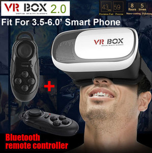 Virtual Reality 3D Bril VR Box 2.0 met bluetooth wireless smart controller / muis
